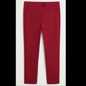 MANGO Straight Cotton Ankle Pants! Size 10